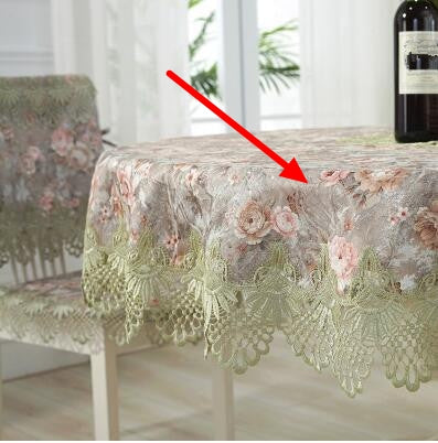 Costbuys  Round table cloth cloth art table cloth super large table cloth lace Chinese American luxury - Color 3 / 85cm x 85cm