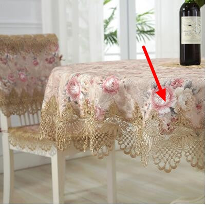 Costbuys  Round table cloth cloth art table cloth super large table cloth lace Chinese American luxury - Color 1 / 85cm x 85cm