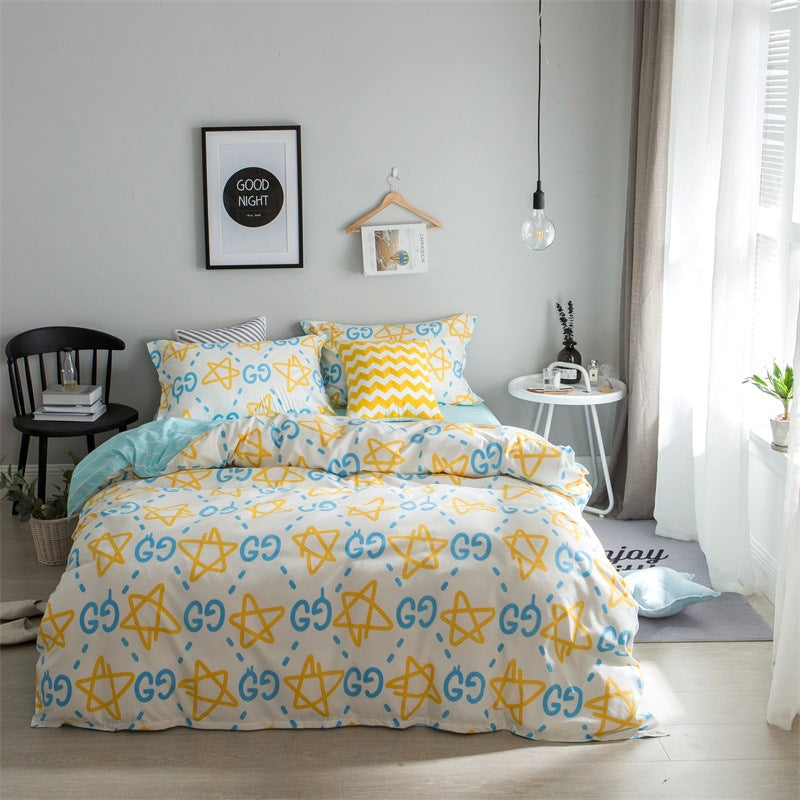 Costbuys  Hot Sale Duvet Cover Queen Bedding Set King Size 4pcs with Quilt Cover, Bed Sheet, PillowCase - 16 / Single 3pcs