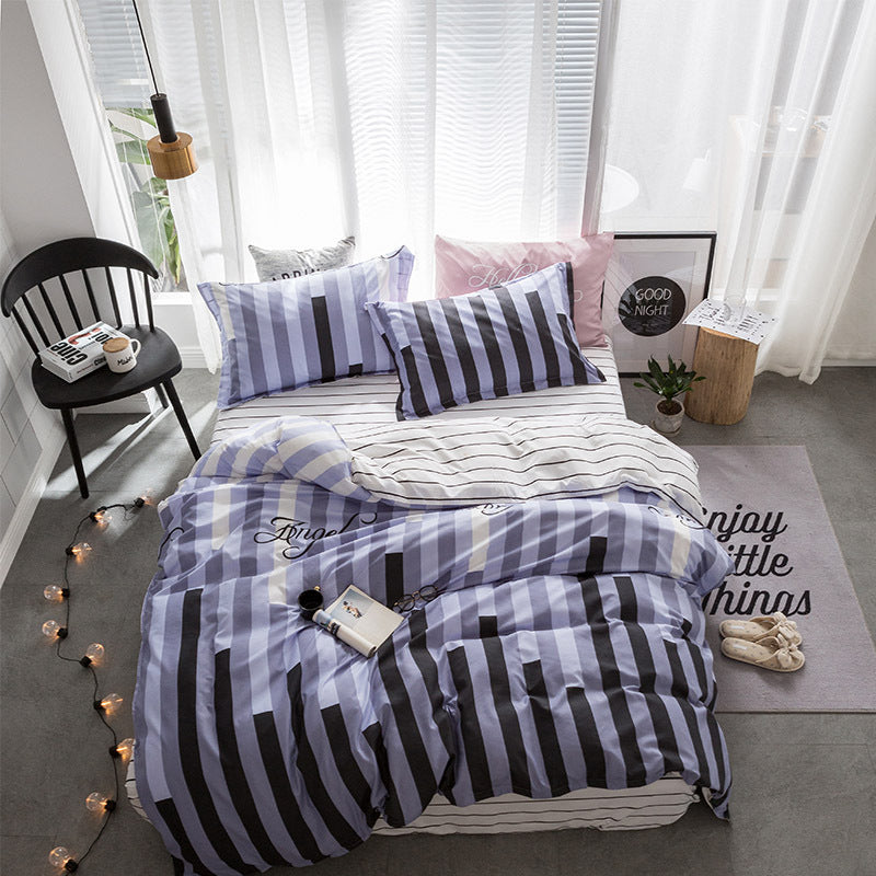 Costbuys  Hot Sale Duvet Cover Queen Bedding Set King Size 4pcs with Quilt Cover, Bed Sheet, PillowCase - 3 / Single 3pcs