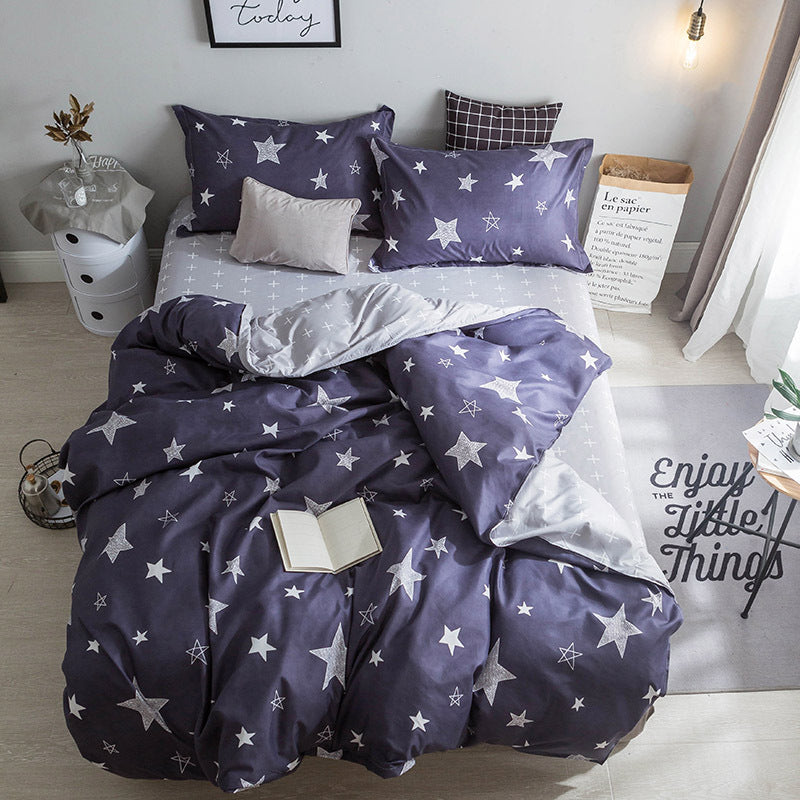 Costbuys  Hot Sale Duvet Cover Queen Bedding Set King Size 4pcs with Quilt Cover, Bed Sheet, PillowCase - 6 / Single 3pcs