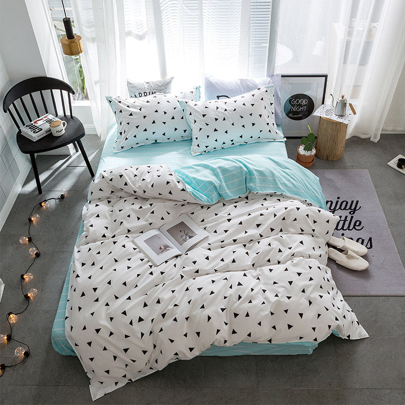 Costbuys  Hot Sale Duvet Cover Queen Bedding Set King Size 4pcs with Quilt Cover, Bed Sheet, PillowCase - 26 / Single 3pcs
