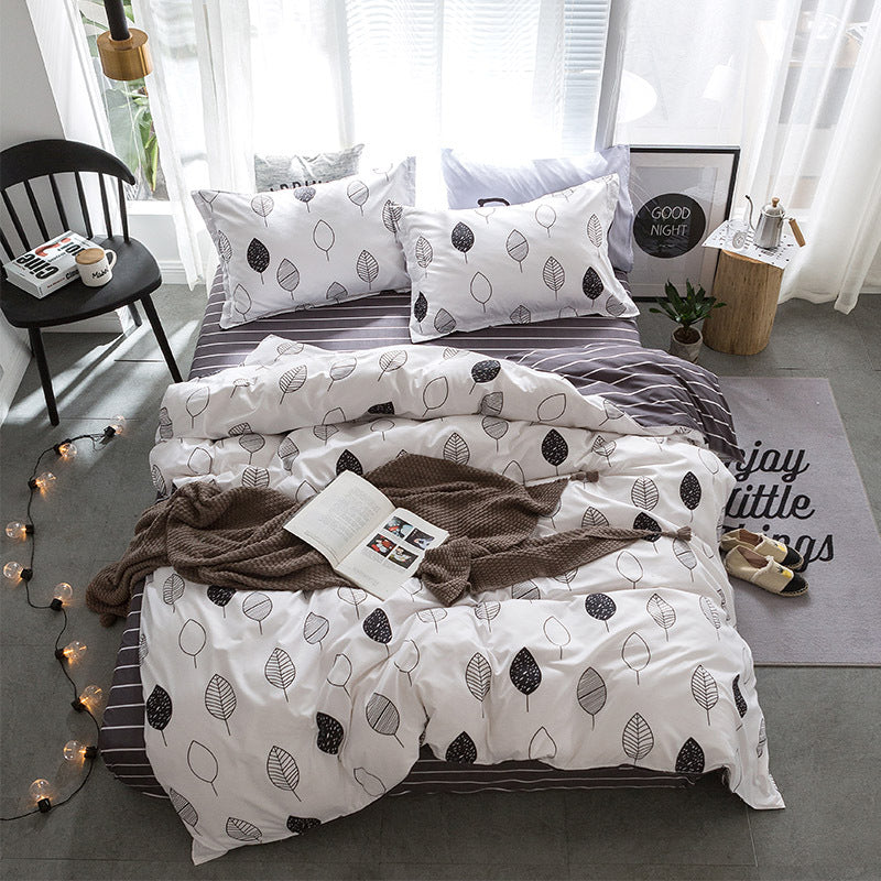 Costbuys  Hot Sale Duvet Cover Queen Bedding Set King Size 4pcs with Quilt Cover, Bed Sheet, PillowCase - 27 / Single 3pcs
