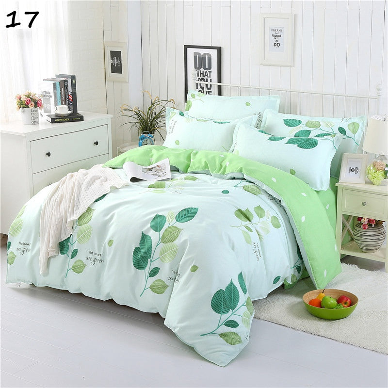 Costbuys  Bedding Sets King Size Duvet Cover Set 2/4 PCS Bedding Sheet Set Twin Single Queen linens Set White And Black 1 2 - 17