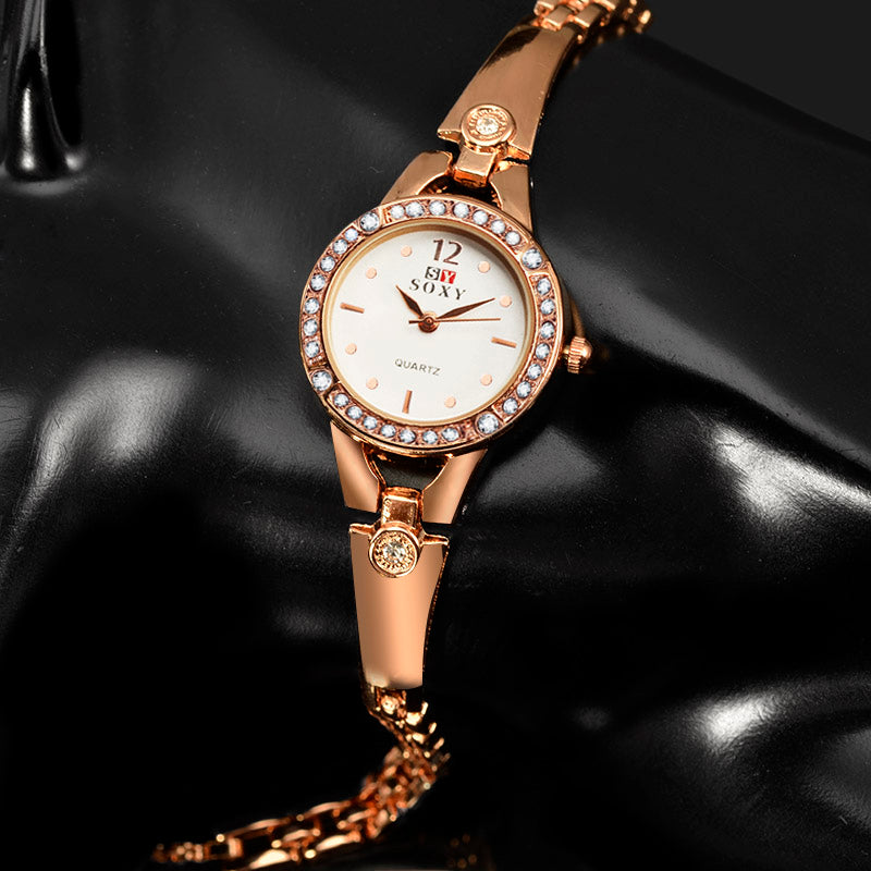 Costbuys  Rose Gold Bracelet Watch Women Watches Rhinestone Women's Watches Ladies Watch Clock relogio feminino zegarek damski r