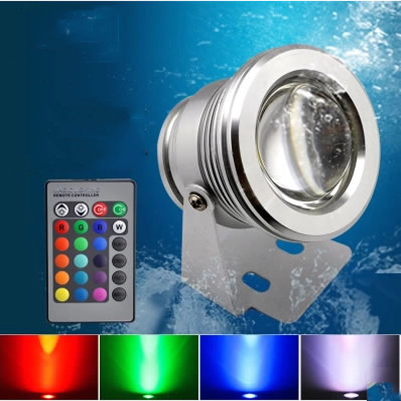 Costbuys  IP68 Waterproof DC 12V 10W RGB LED Underwater Light Swimming Pool Pond Fish Tank Aquarium Fountain LED Light Lamp - RG