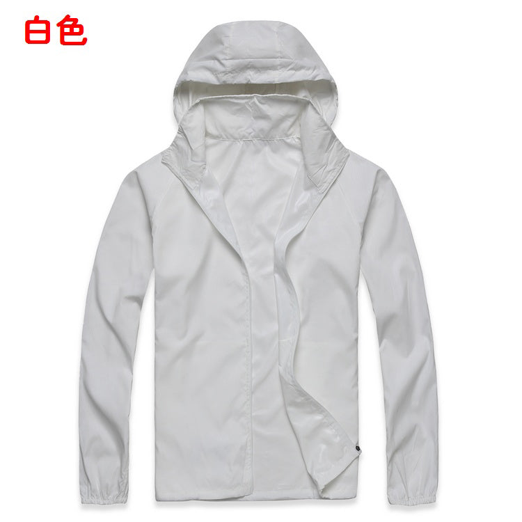 Costbuys  Ultra-light Windproof Outdoor Camping Sport Jacket Bike Bicycle Cycling Hiking Jacket Windcoat Fishing Jacket - White