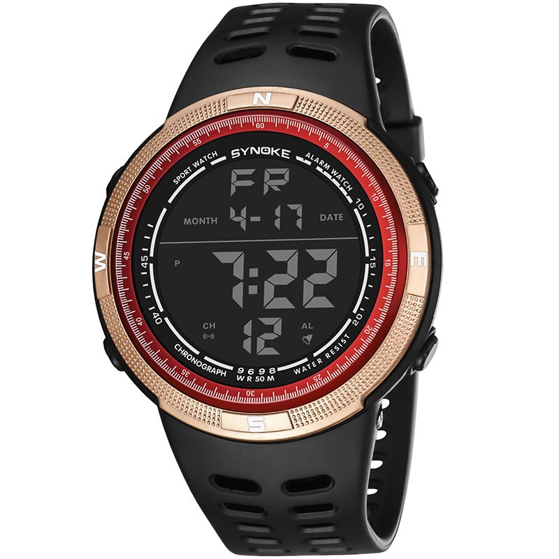 Costbuys  Men Digital Watches Outdoor Sports Students Watch Waterproof Electronic Watches Male Clock TT@88 - Golden