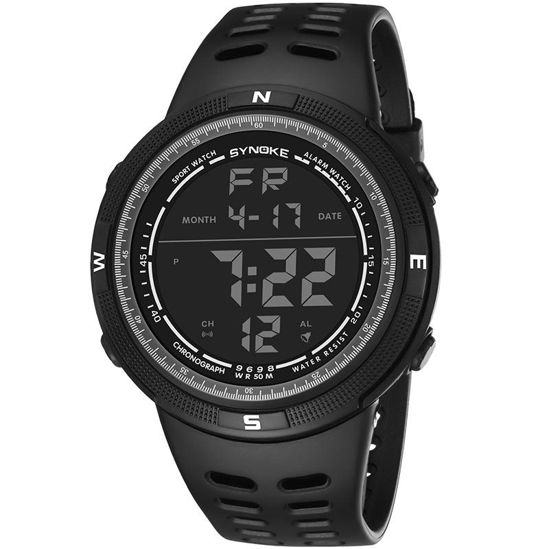 Costbuys  Men Digital Watches Outdoor Sports Students Watch Waterproof Electronic Watches Male Clock TT@88 - Black