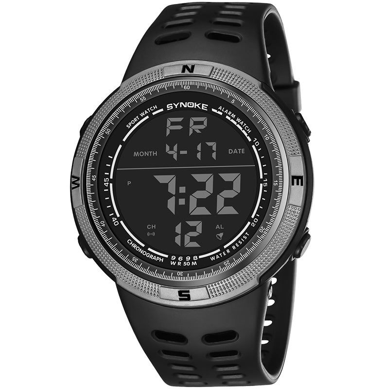 Costbuys  Men Digital Watches Outdoor Sports Students Watch Waterproof Electronic Watches Male Clock TT@88 - Gray