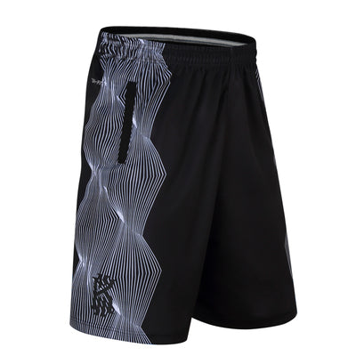 43b1647c912 design stripe training basketball running kyrie irving sport shorts loose  half length plus size with double pocket