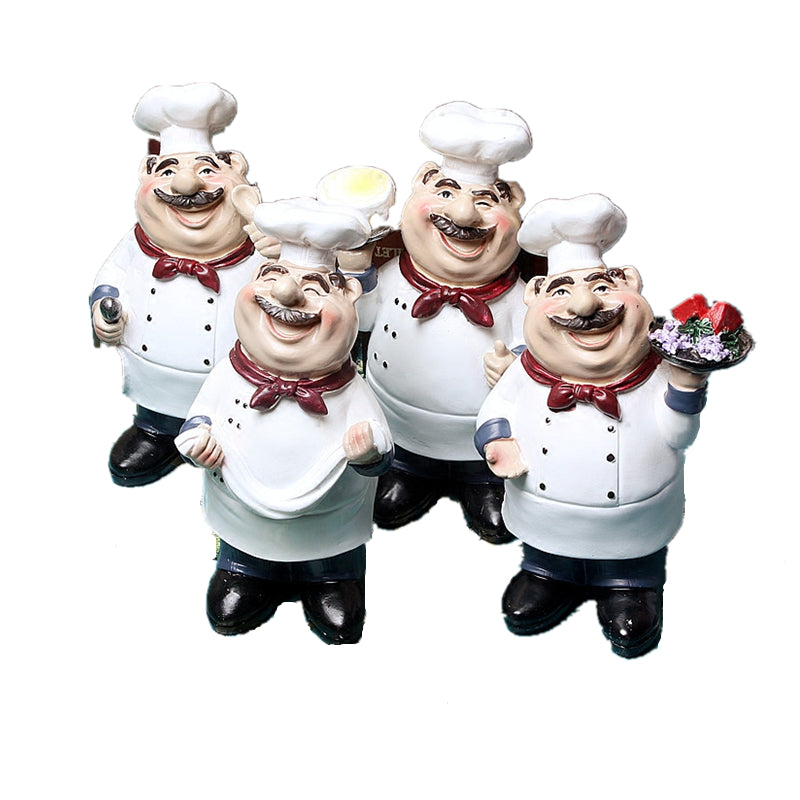 Costbuys  Medium Vintage American country happy Chef resin Figurines furnishing cake shop Ornament for Home decoration accessori