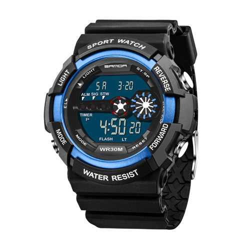 Costbuys  Waterproof Electronic Watches Dual display Sport Women Electronic Wristwatch Ladies Golden electronic Clock With metal