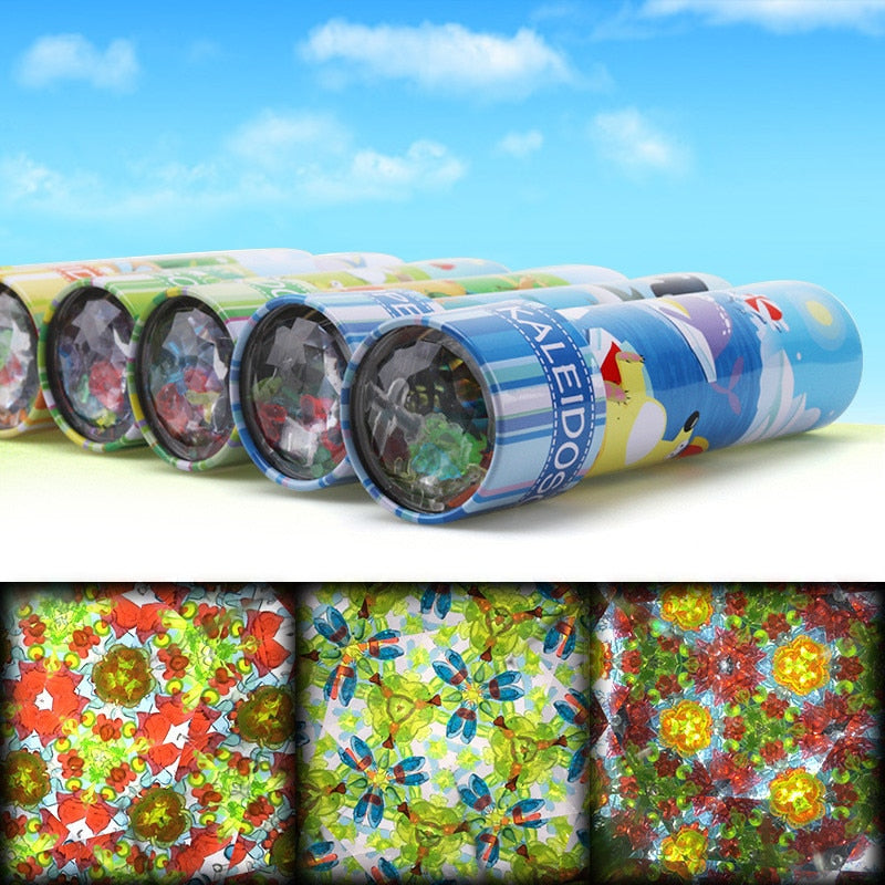 Scalable Rotation Kaleidoscope 30cm Magic Changeful Adjustable Fancy Colored World Toys For Children Autism Kid Puzzle Toy Classic & Retro Toys