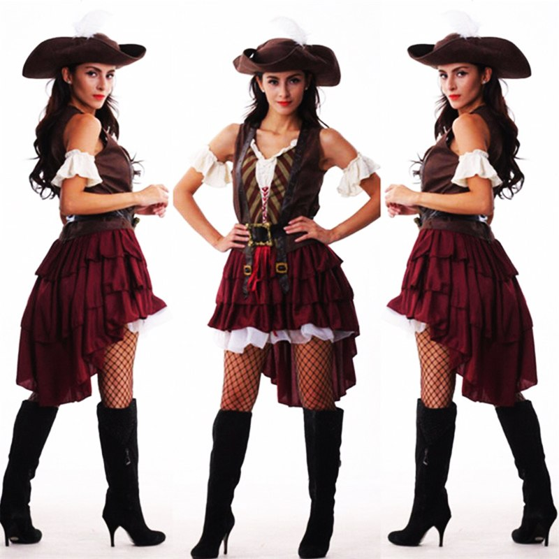 Sexy Women Pirate Costume Woman Plus Size Female Halloween -3979