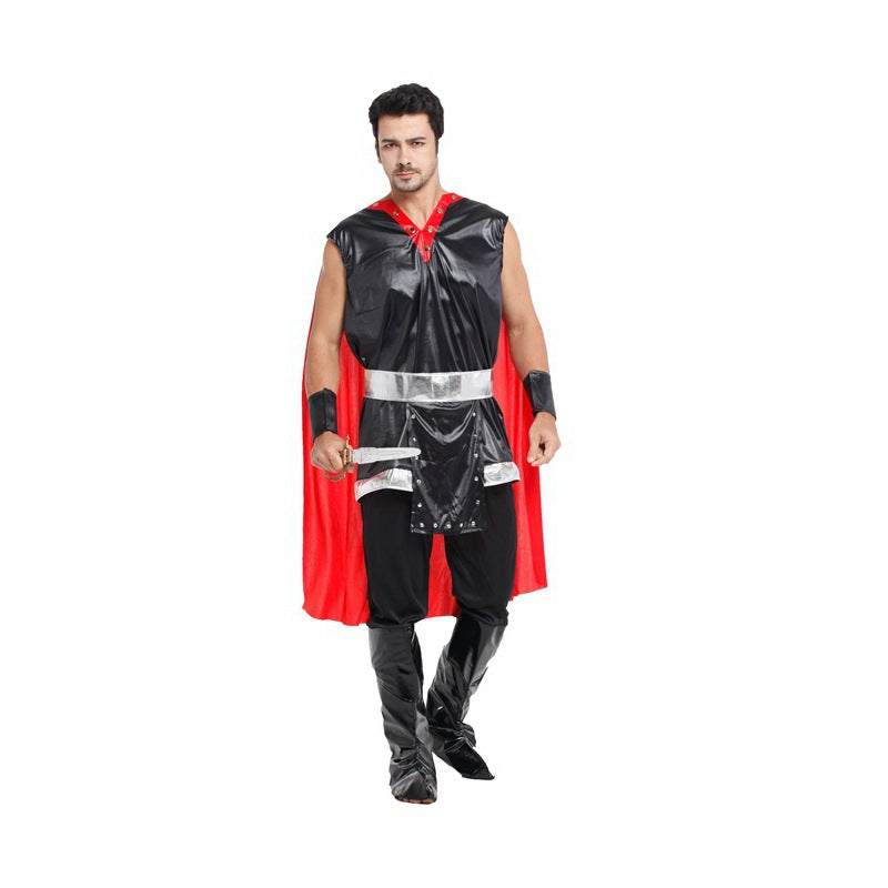 Costbuys  Adult Party Cosplay Costumes King of Rome Halloween Costumes for Men Medieval Warrior Carnival Costumes - One Size