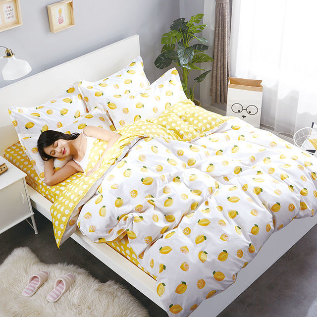 Costbuys  Ship Printed Home Textile ForTeen Adult Girl Bedding Set Bed Cover Bed Sheet Duvet Cover Pillowcase Bed Linen Bedcloth