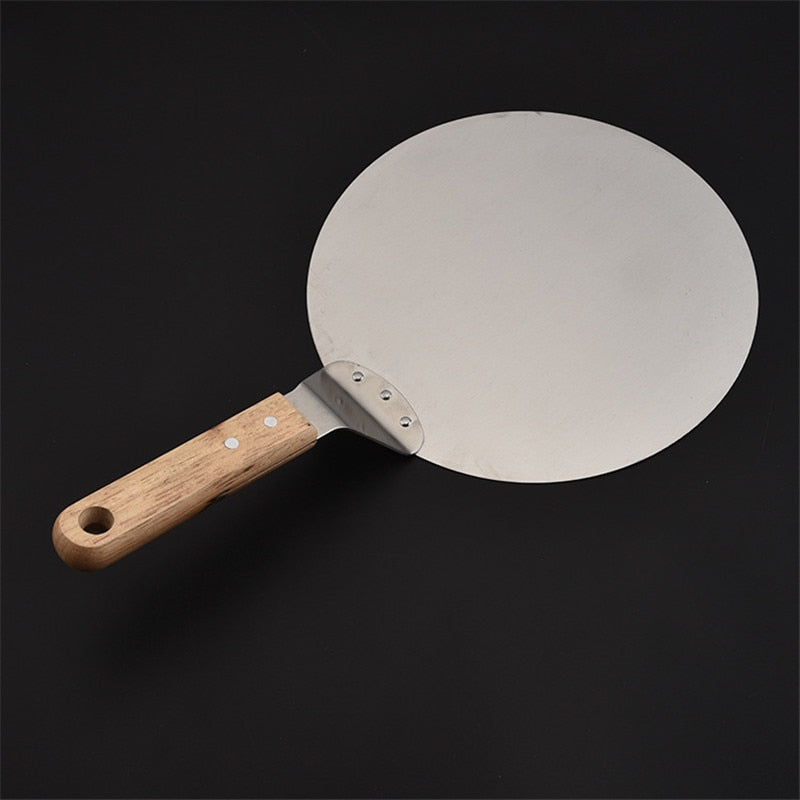 Costbuys  Silver Stainless Steel Pizza Spatula 25cm Peel Shovel Turner Cake Lifter Tray Pan Home Kitchen Baking Pastry Tools Acc