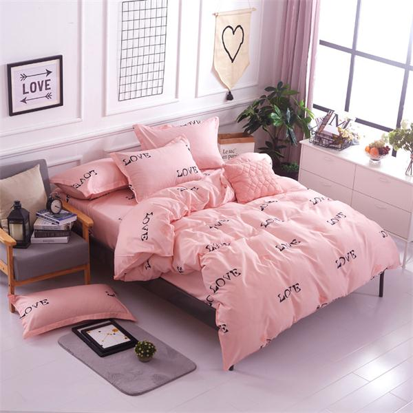 Costbuys  Simple coarse lines 4pcs comforter bedding sets bed sheet +Duvet cover + pillow cases queen super king size bedspreads