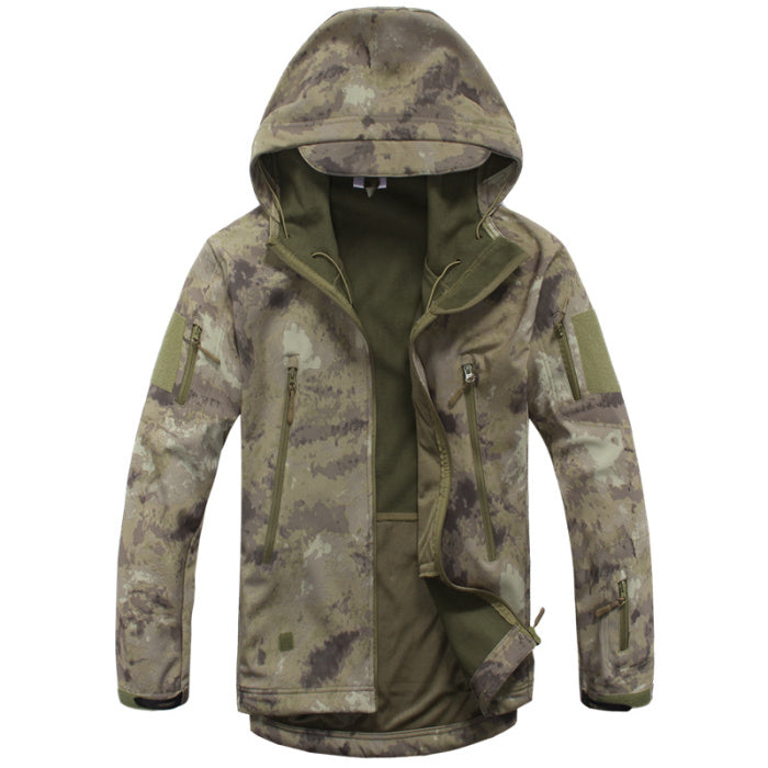 Costbuys  Softshell Jacket Men Tactical Jackets Outdoor Waterproof Sports Camouflage Hunting Camping Hiking Fleece Jackets - AT