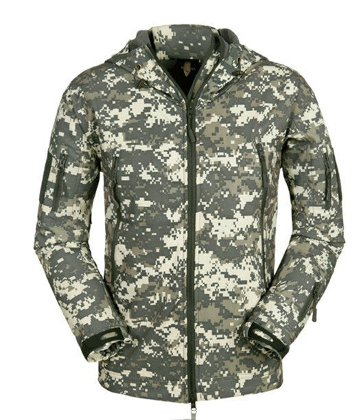 Costbuys  Softshell Jacket Men Tactical Jackets Outdoor Waterproof  Sports Camouflage Hunting Camping Hiking Fleece Jackets - AC