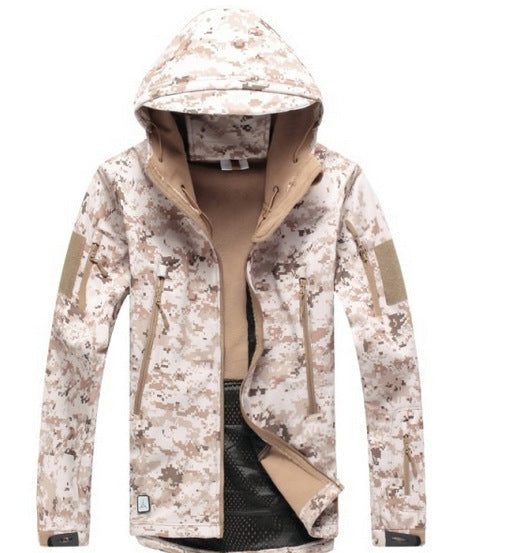 Costbuys  Softshell Jacket Men Tactical Jackets Outdoor Waterproof  Sports Camouflage Hunting Camping Hiking Fleece Jackets - DD