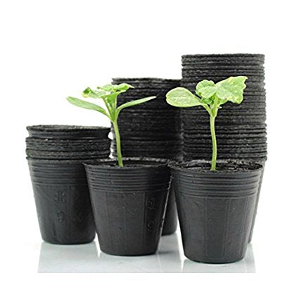 Costbuys  Size 10X10 100 Pcs Nursery Pots Seedling-Raising Pan Feeding Block Nutrition Pan Garden Supplies Garden Pots Planters