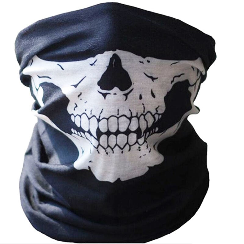 Costbuys  Skull Mask Toys Protective Dust Mask Bandana Outdoor Gags Motorcycle Bicycle Novelty Horror Mask Skeleton Head Tease M