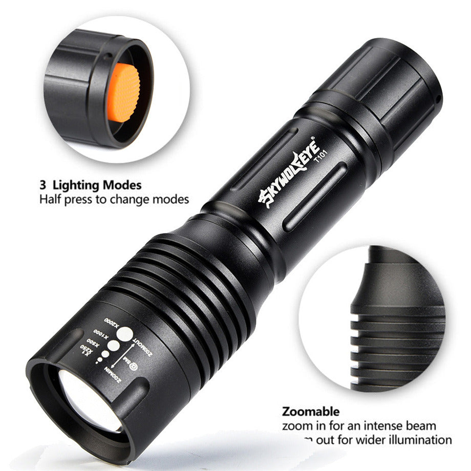 Costbuys  Tactical Zoomable 5-Mode XMLT6 LED Flashlight Torch Light 18650 Flashlight