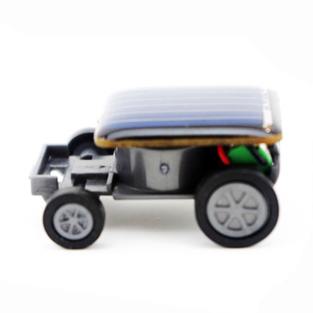 Costbuys  Smallest Solar Power Mini Toy Car Racer Educational Solar Powered Toy  kids gift t15 - Black