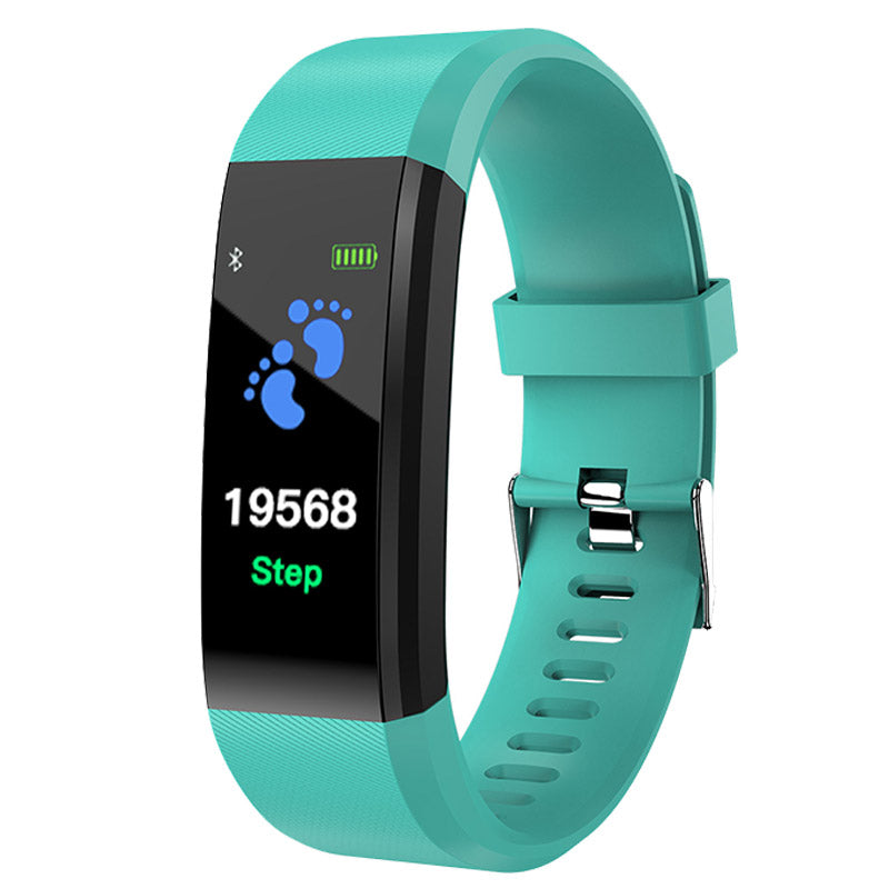 Costbuys  Smart Wrist Band Bracelet Fitness Heart Rate Blood Pressure Pedometer Sports Wristband Smart Watch Men Women For IOS A