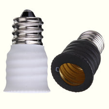 E12 To E14 Base LED Bulb Lamp Holder Light Adapter Socket Converter Black White Lighting Accessories Lamp Base