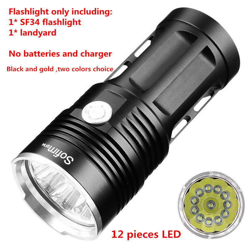 Costbuys  SF34 Powerful LED Flashlight Torch Light 18650 Tactical Flashlight handheld lights 5 modes linterna camping hunting -