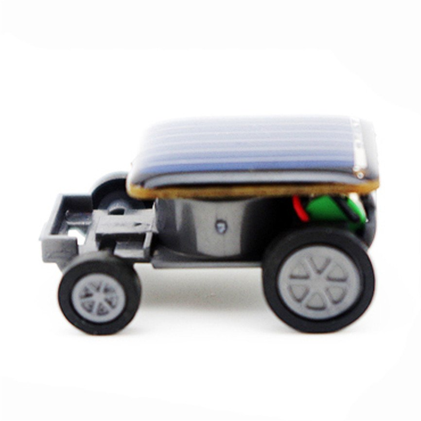 Costbuys  Solar Car Toy Smallest Solar Power Mini Toy Car Racer Educational Solar Powered Toy 33*22*14mm Sep#1 - Black