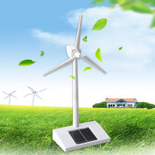 Solar Powered 3D Windmill Assembled Model Education Fun Kids Toy Gift Wind Turbine ABS Plastic Toys Easy to Assembled Toys