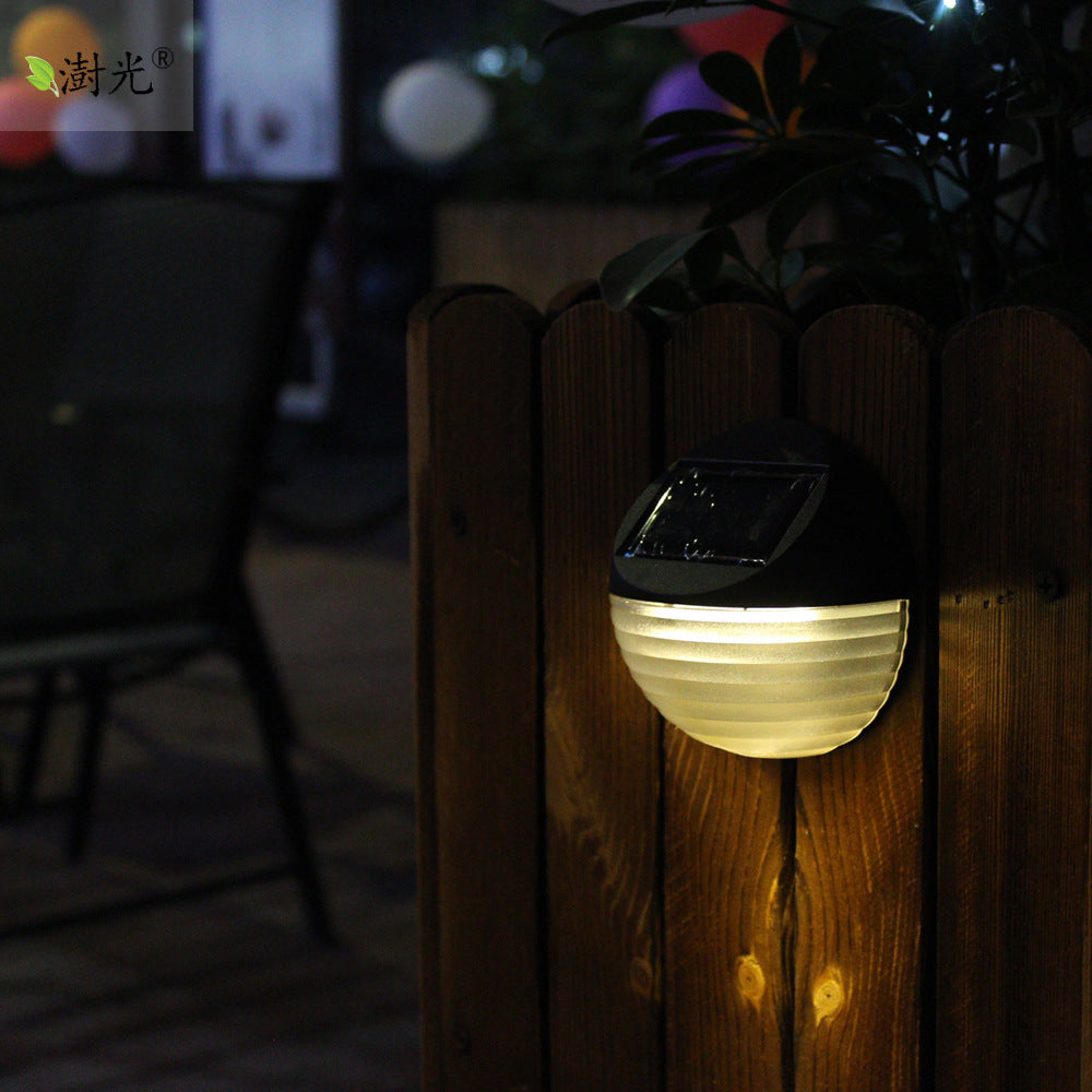 Costbuys  Solar Powered 6 LED Outdoor Deck Semi Circle Step Waterproof Wall Yard Garden Fence Street Security Pathway Lamp Night