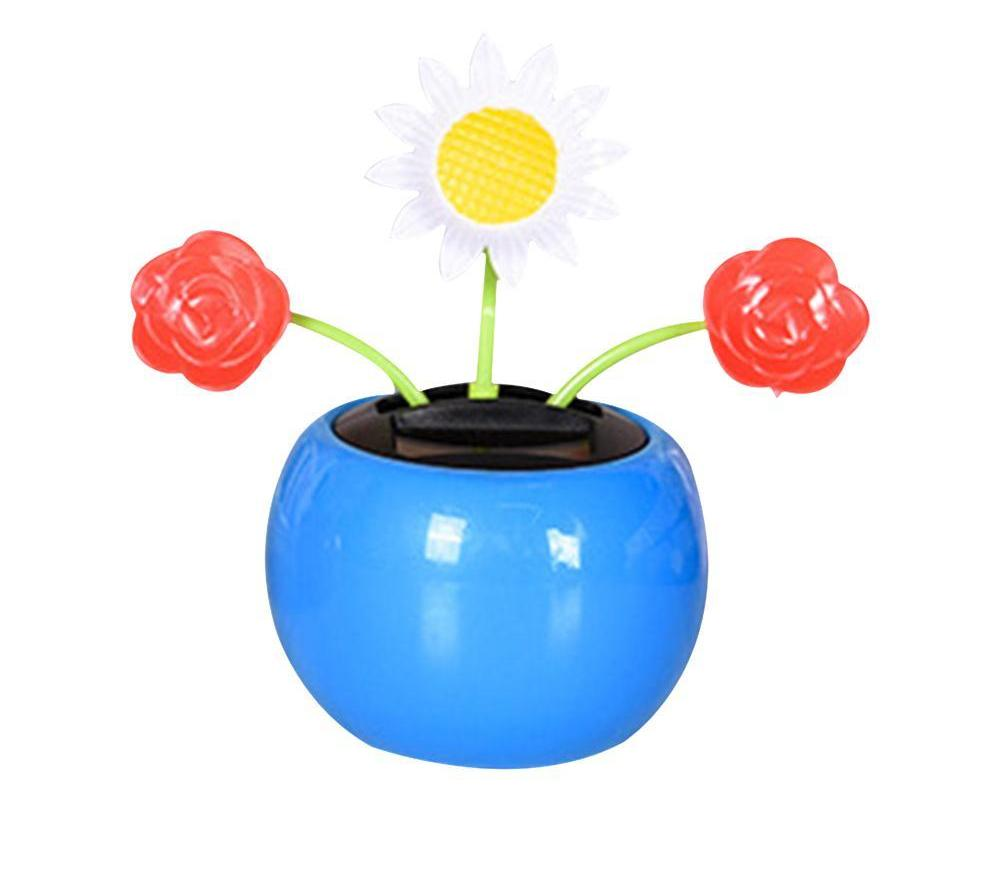 Costbuys  Solar Powered Dancing Flower Butterfly Ladybug Car Decoration Mini Sensoring Swinging Animated Dancer Toys Auto Orname