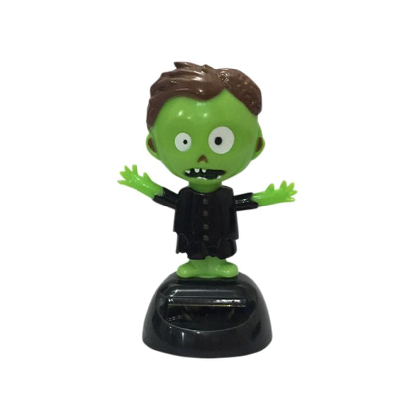 Costbuys  Solar Powered Dancing Halloween Swinging Animated Bobble Dancer Toy Car Decor car-styling Sep 14 - Green
