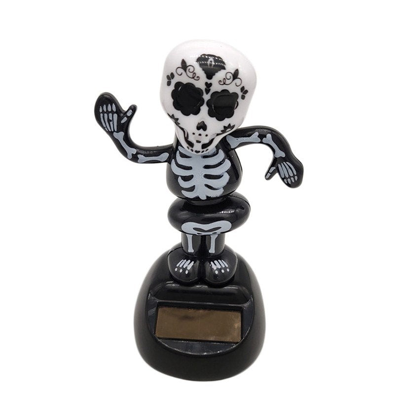 Costbuys  Solar Powered Dancing Halloween Swinging Animated Bobble Dancer Toy Car Decor Decoration  Squeeze Toy for Terror Party
