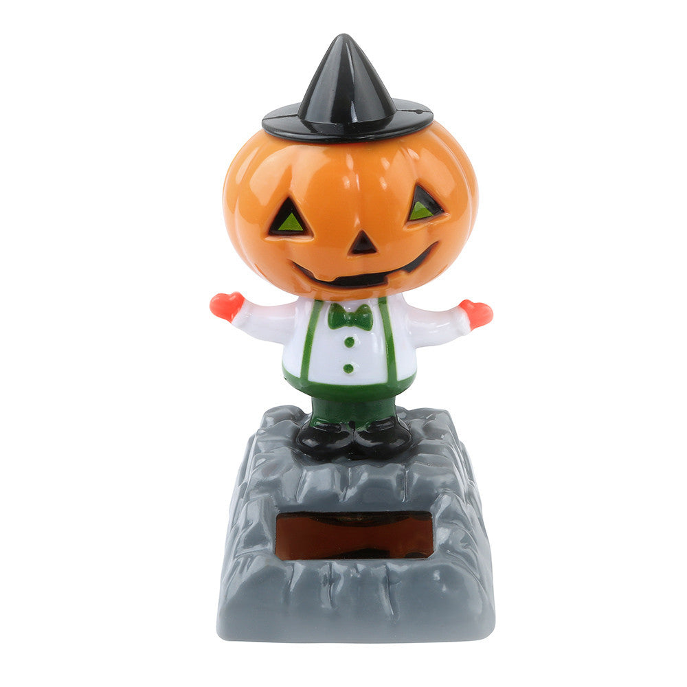 Costbuys  Solar Powered Dancing Halloween Swinging Animated Bobble Dancer Toy Car Decor Home Decoration Tools Festival Gift - C