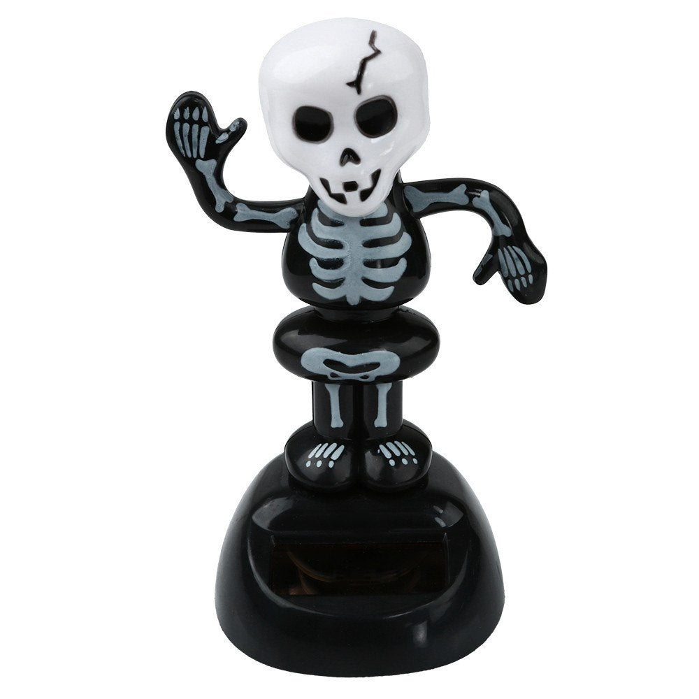 Costbuys  Solar Powered Dancing Halloween Swinging Animated Bobble Dancer Toy Car Decor Home Decoration Tools Festival Gift - A