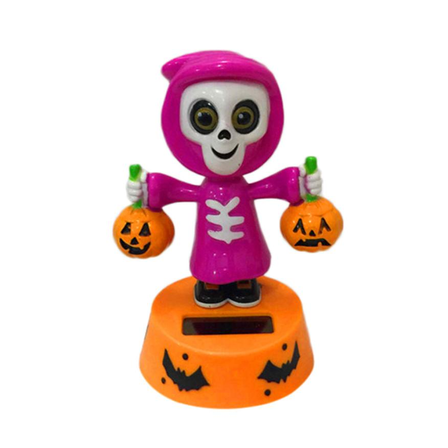 Costbuys  Solar Powered Dancing Halloween Swinging Animated Bobble Dancer Toy Car Decor - Red