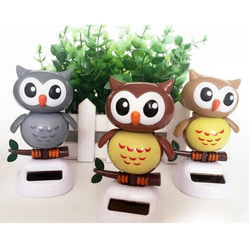 Costbuys  Solar Powered Dancing Owl Swinging Bobble Toy Gift For Car Ornament Decoration Novelty Dancing Solar Animal Toys - Ran