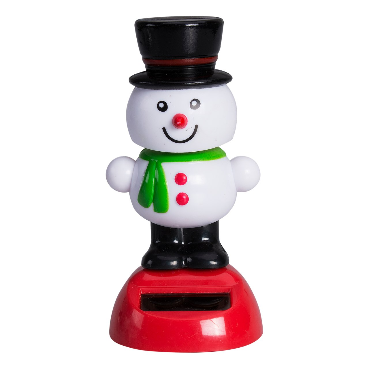Costbuys  Solar Powered Dancing Toy Christmas Santa Snowman Car Table Decor Ornaments White Red Xmas Decoration Gift - 10