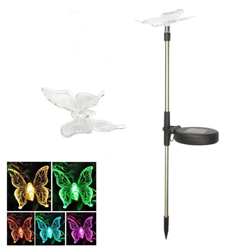 Costbuys  Solar Powered LED Pathway Light Outdoor Waterproof Lighting Devices for Garden LED Solar Powered Lamps Decoration Ligh