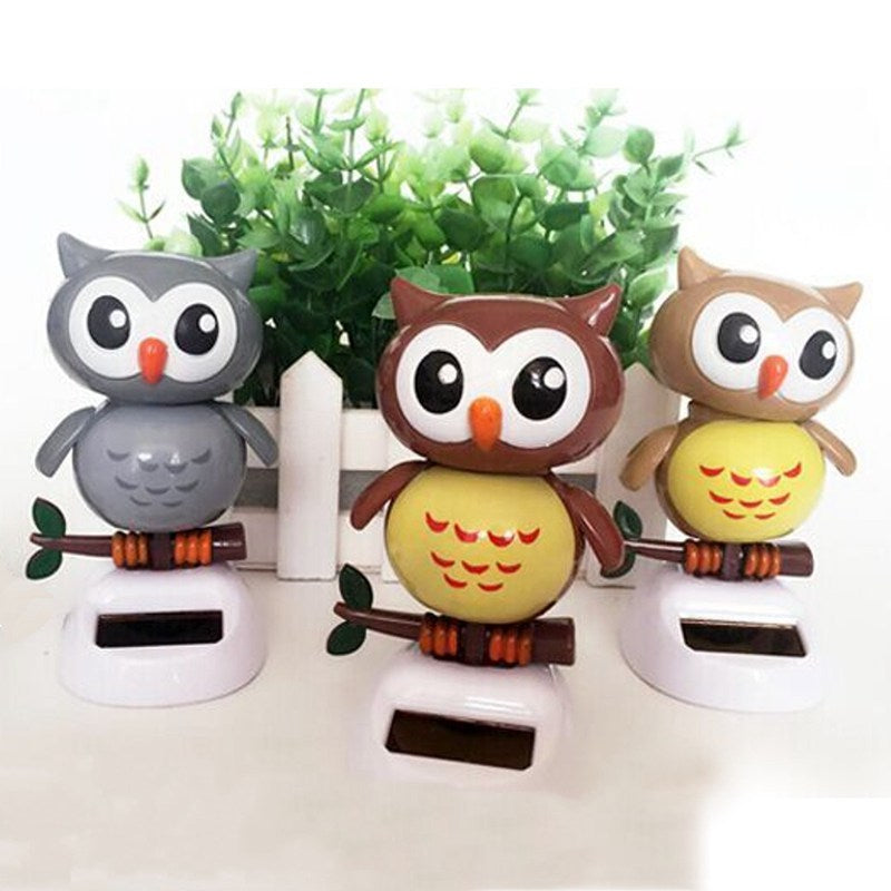 Costbuys  Solar Powered Owl Dancing Flip Flap Swinging Shook His Head For Car Decoration Lovely Dancing Owl Solar Powered Energy