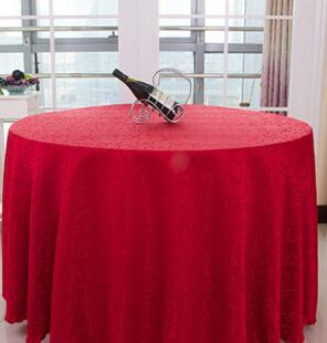 Solid Striped HHigh End Polyester Round Table Cover Dining Table Cloth  Tablecloth Conference Hook Flower Hotel Office Wedding 1