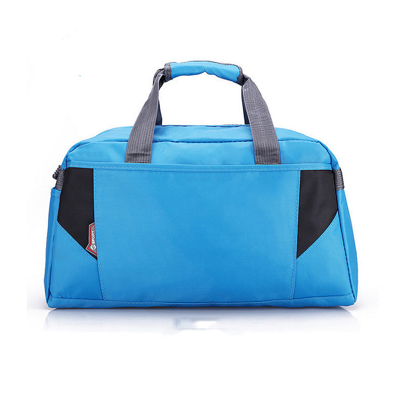 Costbuys  Sports Nylon Women Gym Bag Professional Outdoor Men And Women Gym Handbag Female Training Shoulder Bag Gym Bag - blue