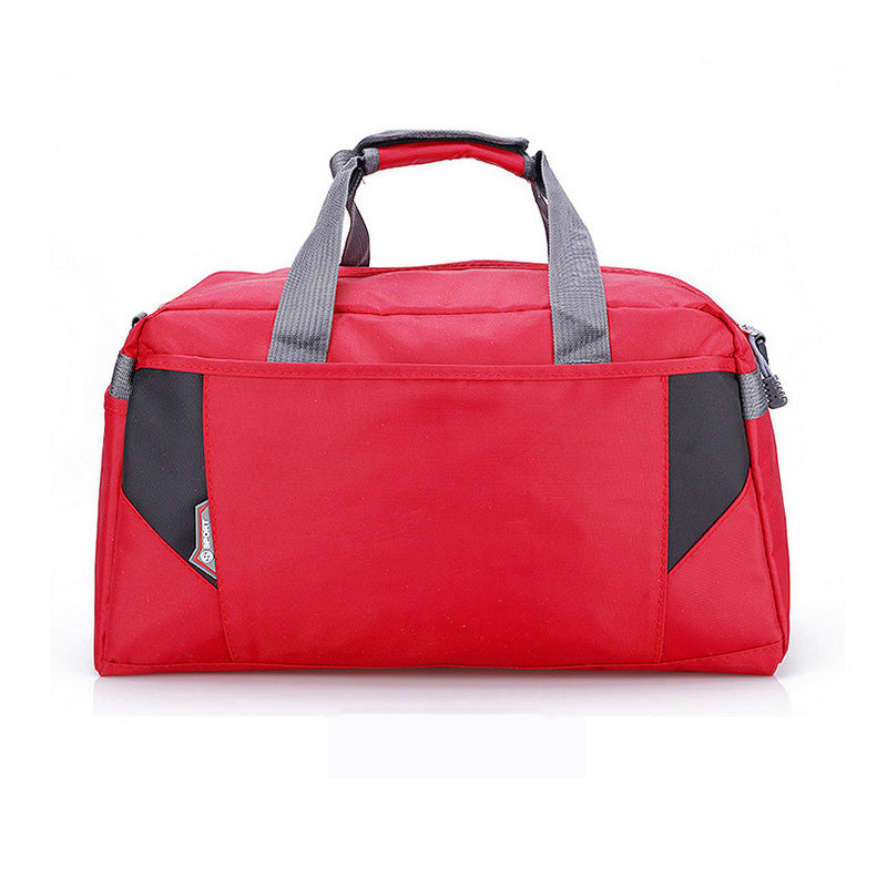 Costbuys  Sports Nylon Women Gym Bag Professional Outdoor Men And Women Gym Handbag Female Training Shoulder Bag Gym Bag - red