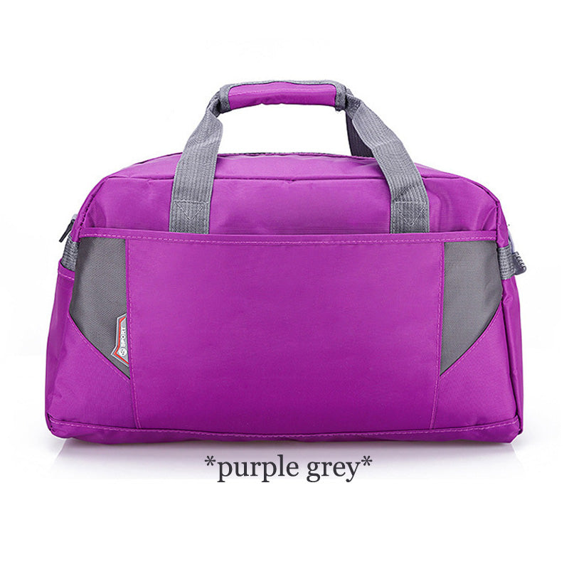 Costbuys  Sports Nylon Women Gym Bags Professional Outdoor Men And Women Gym Handbag Female Training Shoulder Bag Gym Bag - purp